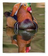 Mandarin Reflection Fleece Blanket