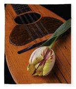 Mandolin And Tulip Fleece Blanket
