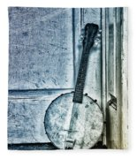 Mandolin Banjo In The Corner Fleece Blanket