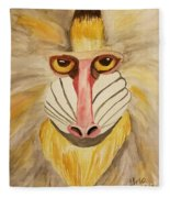 Mandrill Monkey Fleece Blanket