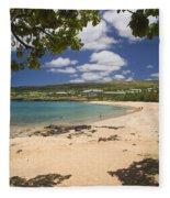 Manele Bay Fleece Blanket