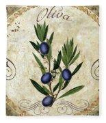 Mangia Olives Fleece Blanket