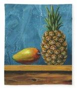 Mango And Pineapple Fleece Blanket