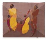 Mango Jazz Fleece Blanket
