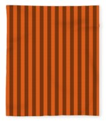 Mango Orange Striped Pattern Design Fleece Blanket