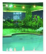 Mango Park Hotel Roof Top Pool Fleece Blanket
