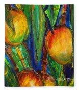 Mango Tree Fleece Blanket