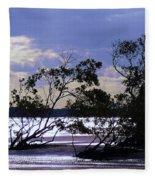Mangrove Silhouettes Fleece Blanket