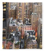 Manhattan At Dusk Fleece Blanket