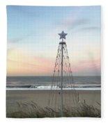Manhattan Beach Christmas Star Fleece Blanket