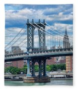 Manhattan Bridge Fleece Blanket