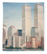 Manhattan Circa 1990 Fleece Blanket