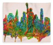 Manhattan Lady Fleece Blanket