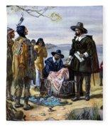 Manhattan Purchase, 1626 Fleece Blanket