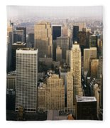 Manhattan Skyline - New York City Fleece Blanket