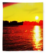 Manhattan Sunrise  Fleece Blanket
