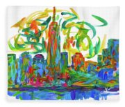 Manhattan Twirl Fleece Blanket