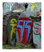 Mani Stones Fleece Blanket