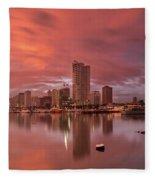 Manila At Sunset Fleece Blanket