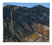 Manitou Incline Photographed From Red Rock Canyon Fleece Blanket