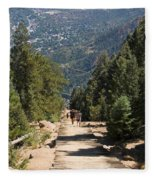 Manitou Springs Pikes Peak Incline Fleece Blanket