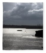 Manly Ferry And Storm Clouds Fleece Blanket