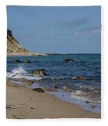 Mansion Beach, Block Island Fleece Blanket