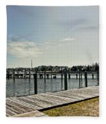 Manteo Waterfront Fleece Blanket