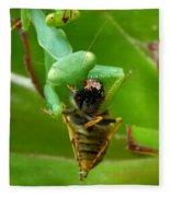 Mantis Munchies Fleece Blanket