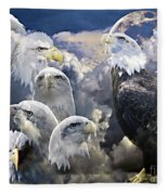 Many Faces  Fleece Blanket