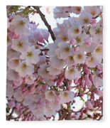 Many Pink Blossoms Fleece Blanket