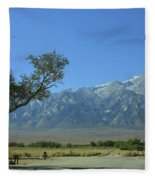 Manzanar 1 Fleece Blanket