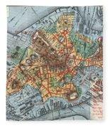 Map: Boston, C1880 Fleece Blanket