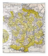 Map: France Fleece Blanket
