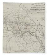 Map Illustrating General Sherman's March Through Georgia  Fleece Blanket