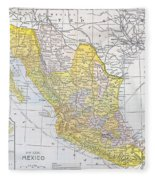 Map: Mexico Fleece Blanket