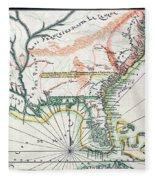 Map: North America, 1742 Fleece Blanket