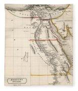 Map Of Aegyptus Antiqua Fleece Blanket