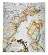 Map Of America, 1779 Fleece Blanket