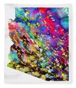 Map Of Arizona-colorful Fleece Blanket