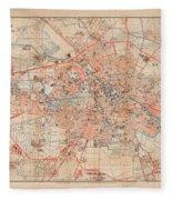 Map Of Berlin 1895 Fleece Blanket