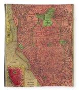 Map Of Buffalo 1896 Fleece Blanket