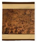 Map Of Cape Breton 1764 Fleece Blanket