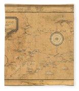 Map Of Cape Cod 1931 Fleece Blanket