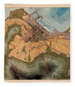 Map Of Cape Town 1947 Fleece Blanket