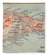 Map Of Capri 1909 Fleece Blanket