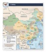 Map Of China Fleece Blanket