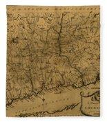Map Of Connecticut 1797 Fleece Blanket