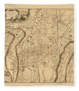 Map Of Cork 1771 Fleece Blanket