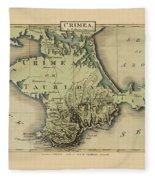 Map Of Crimea 1815 Fleece Blanket